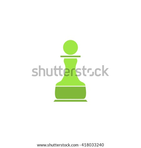 Chess Pawn Simple flat vector icon - stock vector