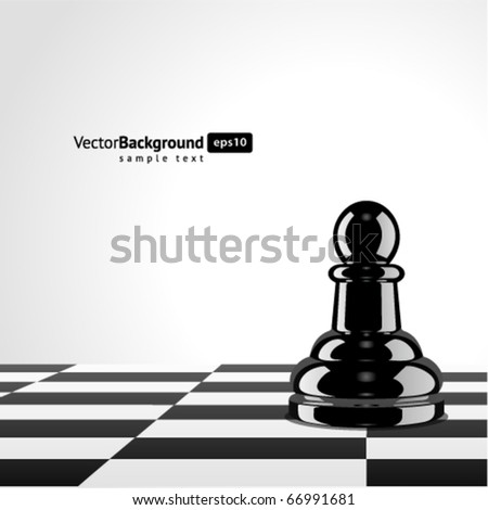 Chess pawn vector background - stock vector