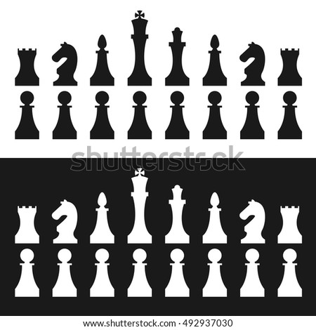 Chess pieces. Vector.