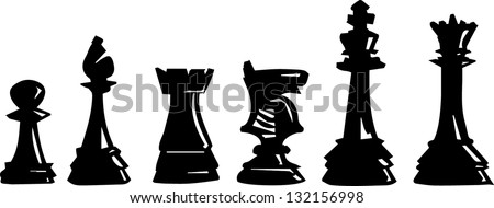 Chess pieces vector illustration - stock vector