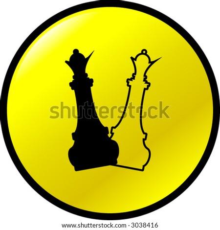 chess queen buttons - stock vector