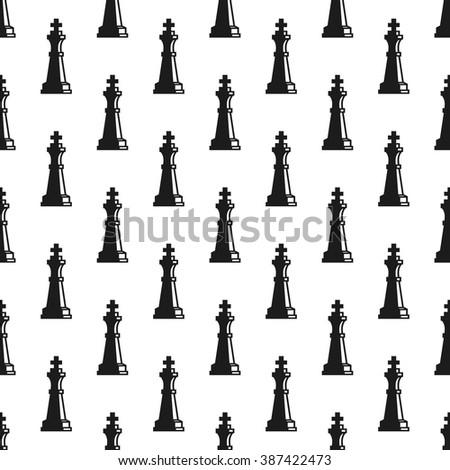 Chess queen seamless background. Chess seamless  pattern for chess game