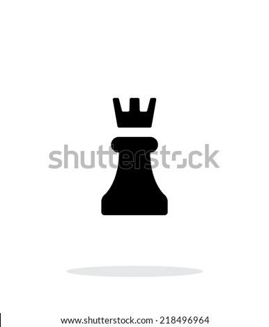 Chess Rook simple icon on white background. Vector illustration. - stock vector