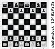 Chess Set - stock vector