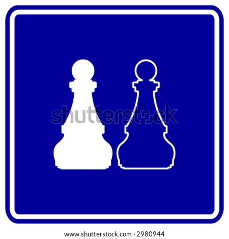 chess sign - stock vector