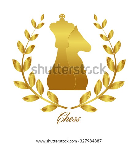 Chess. The winner of the chess. Laurel wreath gold. Professional chess. Game of chess