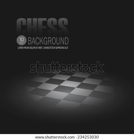 Chessboard. Vector background - stock vector