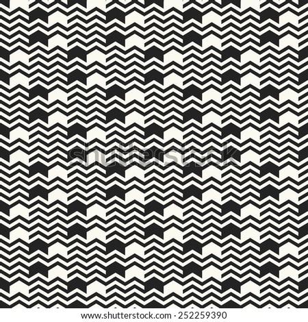 Chevron and spot. Seamless pattern. Vector. - stock vector