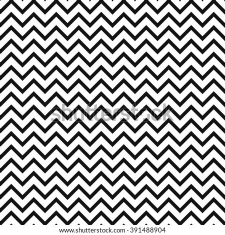 Chevron zigzag black and white seamless pattern. Vector geometric monochrome striped background. Zig zag wave pattern. Classic ornament. - stock vector