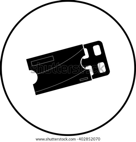chewing gum blister pack symbol - stock vector