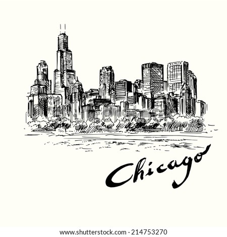 Chicago - stock vector
