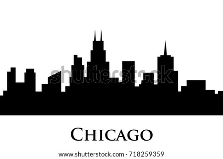 chicago skyline vector stock vector 2018 718259359 shutterstock rh shutterstock com chicago skyline vector image chicago skyline vector art free