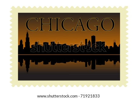 Chicago stamp - stock vector