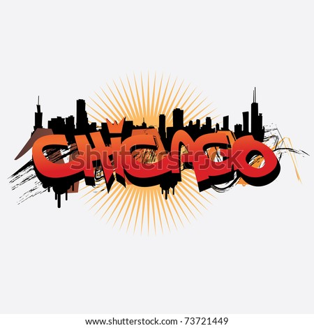 Chicago vector - stock vector