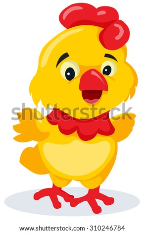 chicken cartoon - stock vector