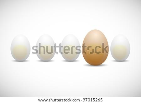 chicken egg, eps10 - stock vector
