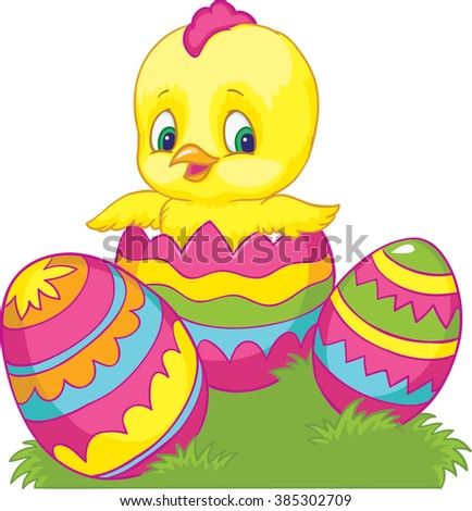 chicken easter egg happy easter vector stock vector 385302709 rh shutterstock com easter vector free easter vector art free