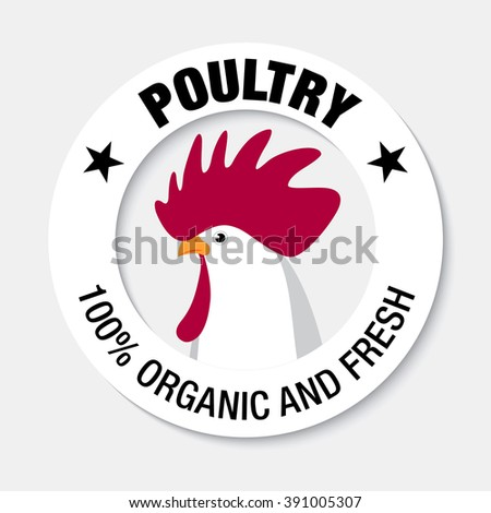 chicken label design