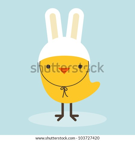 Chicken Rabbit - stock vector