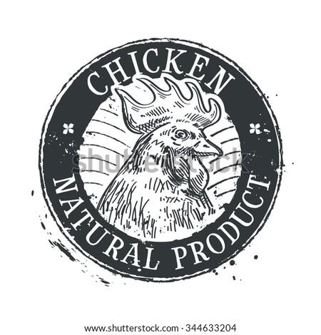 chicken vector logo design template. rooster or farm icon - stock vector