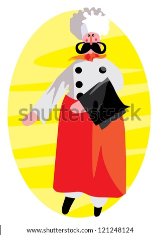 Chief cook - stock vector