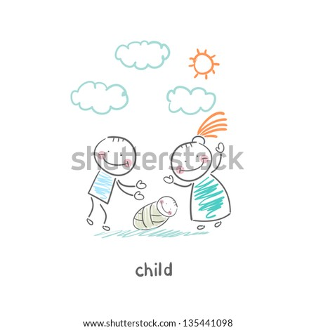 child - stock vector