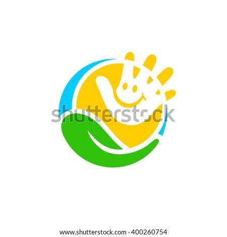 Child Care Center Logo Design - stock vector