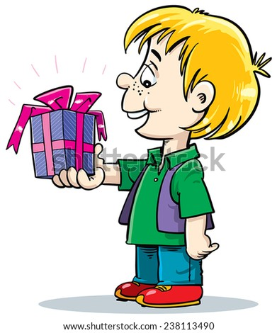 child holding a gift