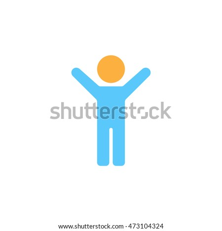 Child icon vector, Boy Stick Figure solid logo illustration, colorful pictogram isolated on white
