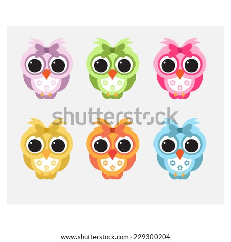 Child like cute owls