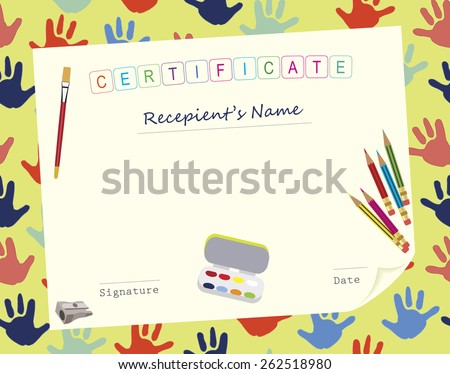 Child Painting Course Certificate