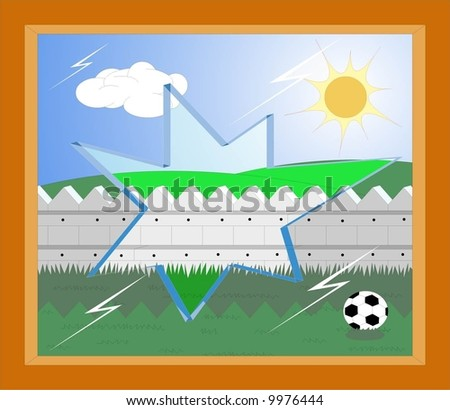 child play football - stock vector