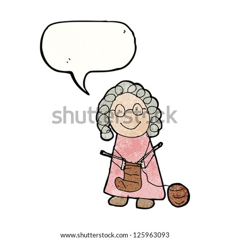 child's drawing of an old woman
