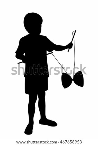 Child shade with a diabolo