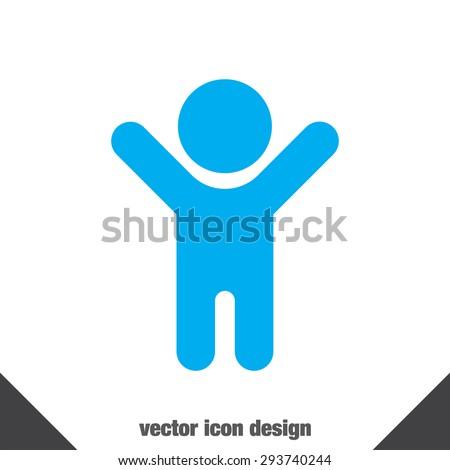child vector icon - stock vector