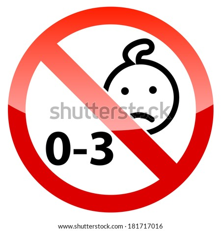 Child Warning Icon Baby Kids Caution Stock Vector 2018 181717016
