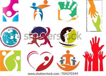 childcare logos has been illustrated stock vector 704370349