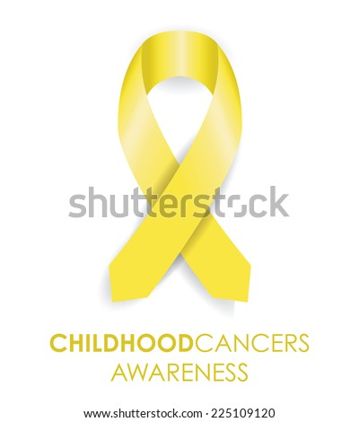 childhood cancer ribbon - stock vector