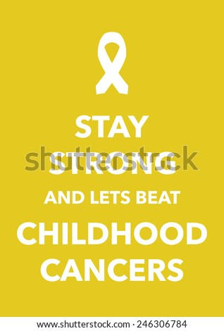childhood cancers poster - stock vector