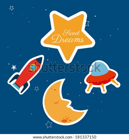 childhood design over blue background vector illustration - stock vector