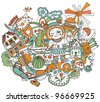 Childhood pattern - stock vector