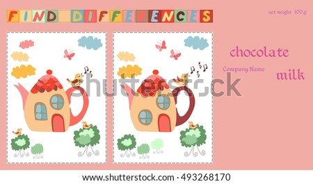 Childish Design Template Chocolate Packaging Game Stock Vector