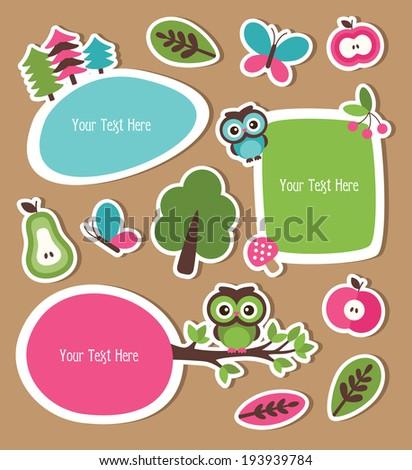 childish frames set design. vector illustration - stock vector