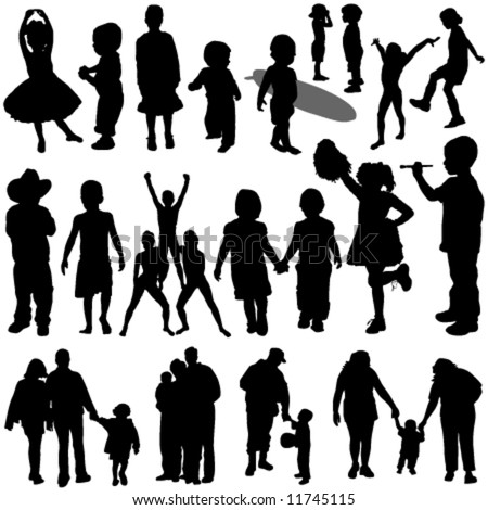 children and family vector