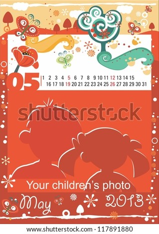 Children calendar for the month of May