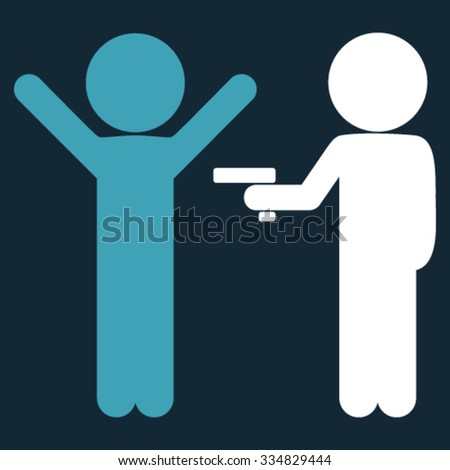 Children Crime vector icon. Style is bicolor flat symbol, blue and white colors, rounded angles, dark blue background. - stock vector