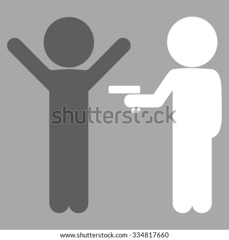 Children Crime vector icon. Style is bicolor flat symbol, dark gray and white colors, rounded angles, silver background. - stock vector