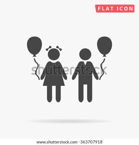 Children Icon Vector.  - stock vector