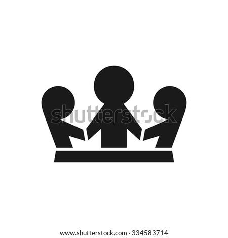 children logo. kids logo. kids forming a crown. - stock vector