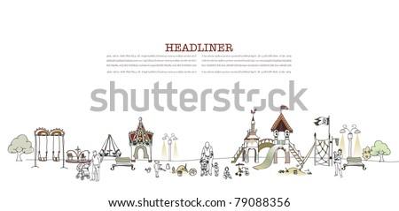 children playground  - stock vector